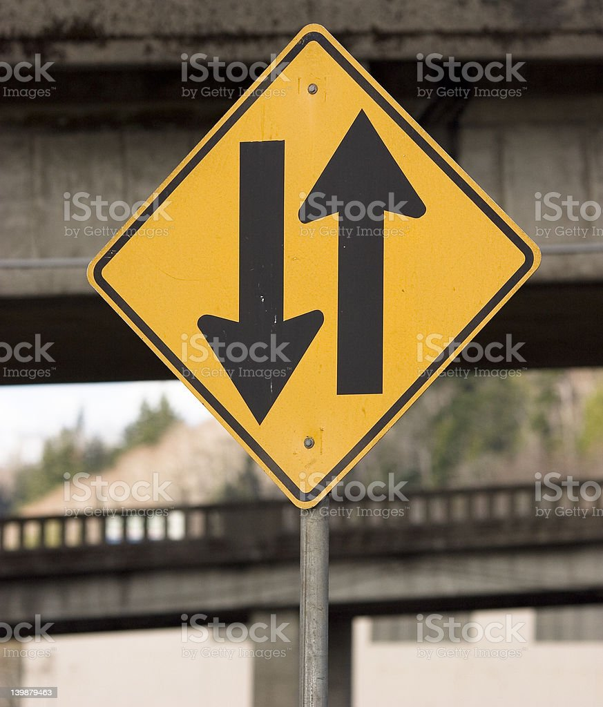 Two Way Traffic royalty-free stock photo