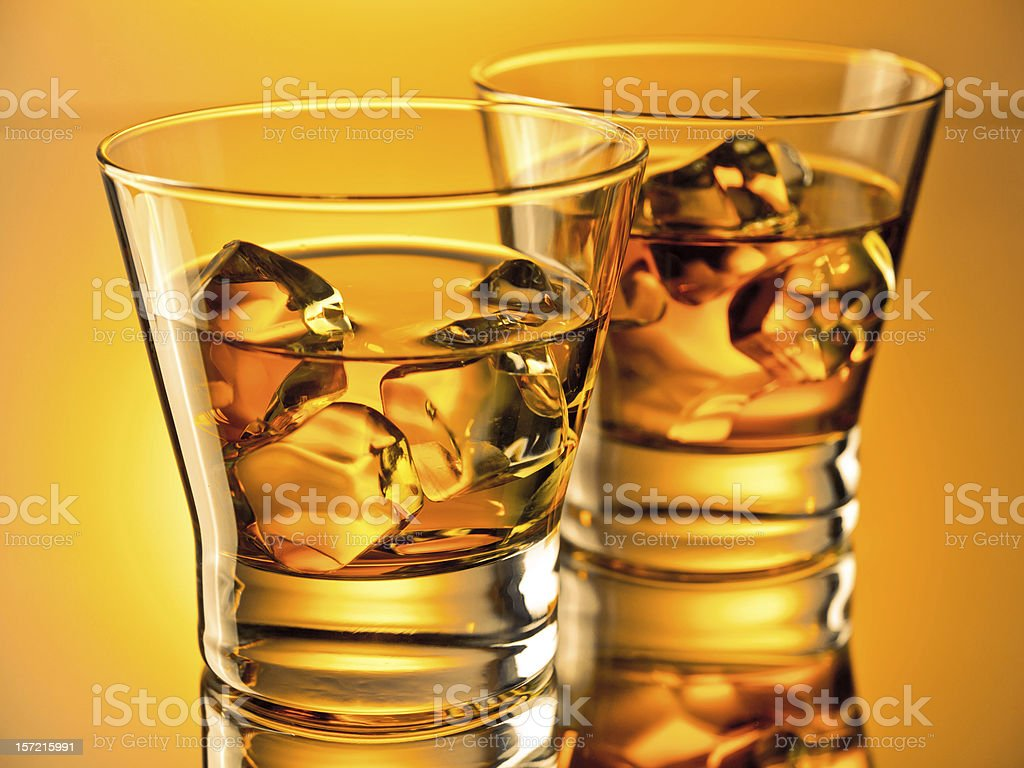 Two whiskeys royalty-free stock photo