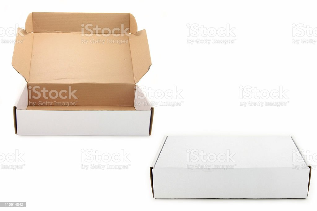 two white boxes royalty-free stock photo