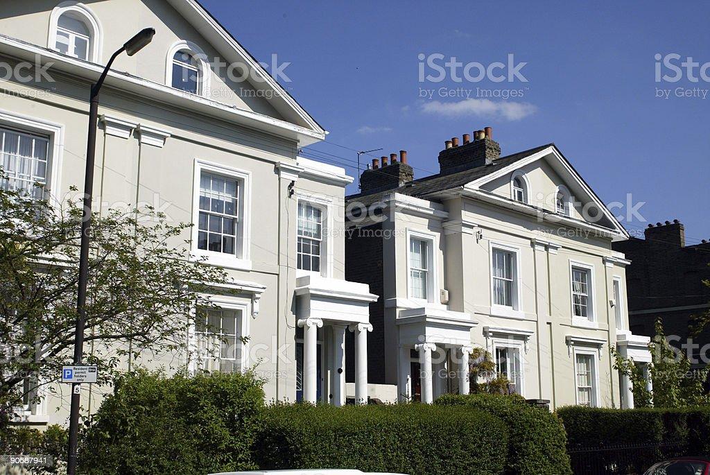 Two white houses London royalty-free stock photo