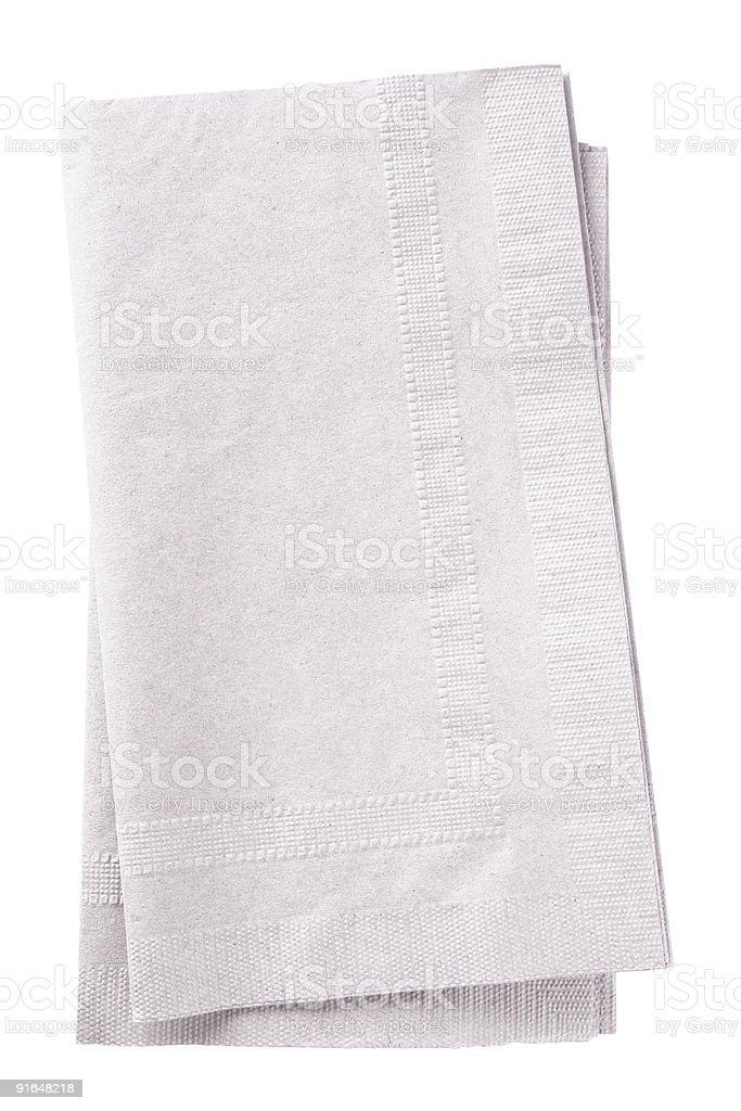 Two white napkins on a white background stock photo