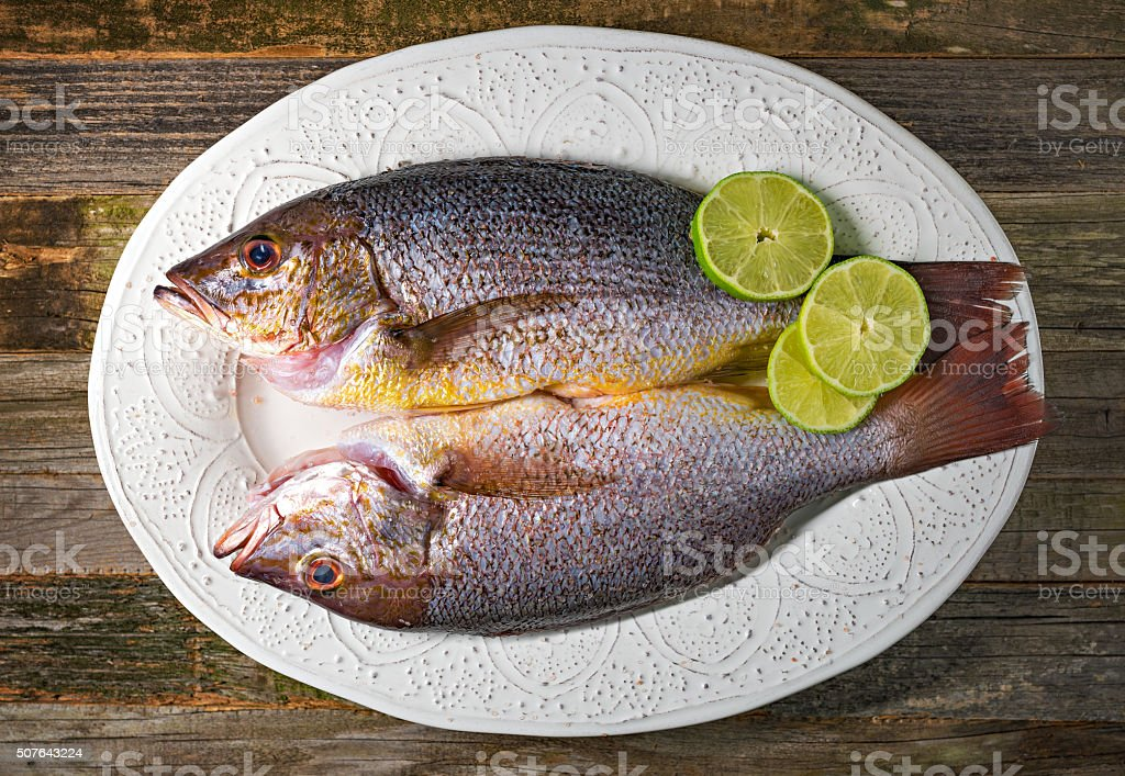Two whole fish stock photo