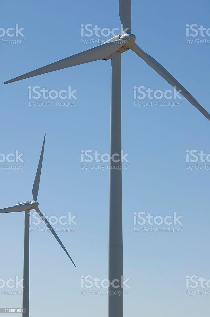 Two Wind Generators stock photo