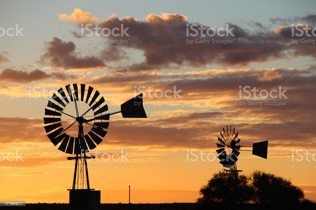 Two Windmills royalty-free stock photo