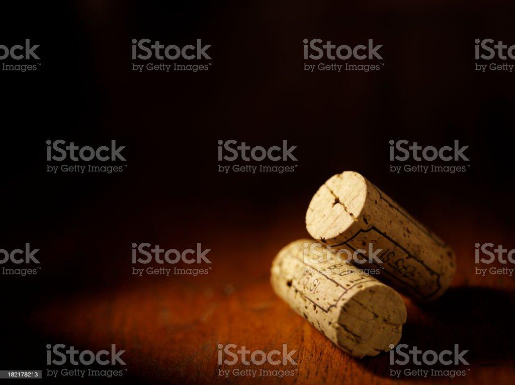 Two Wine Bottle Corks stock photo