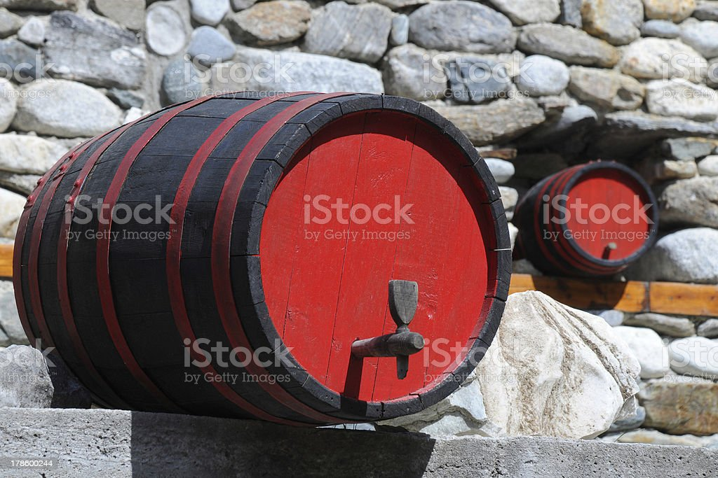 Two Wine Casks royalty-free stock photo