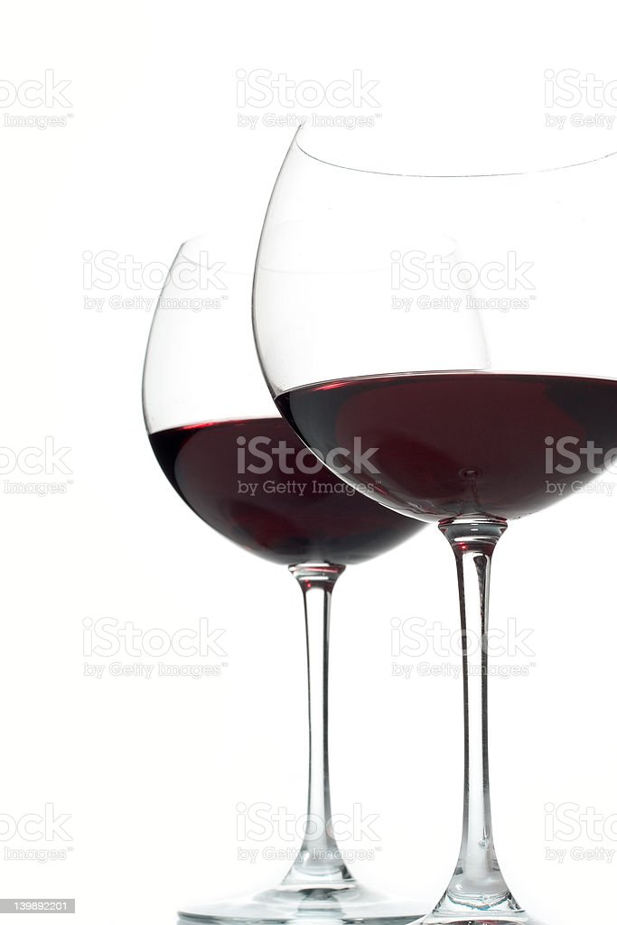 Two wine glasses royalty-free stock photo