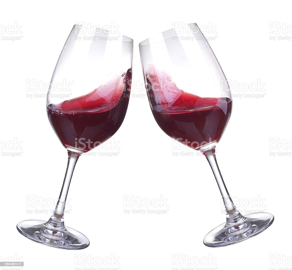 Two wineglasses royalty-free stock photo