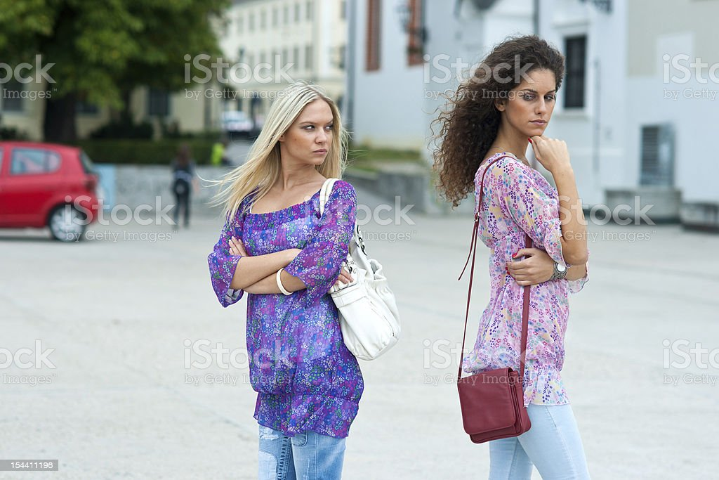 two woman angry to each other royalty-free stock photo