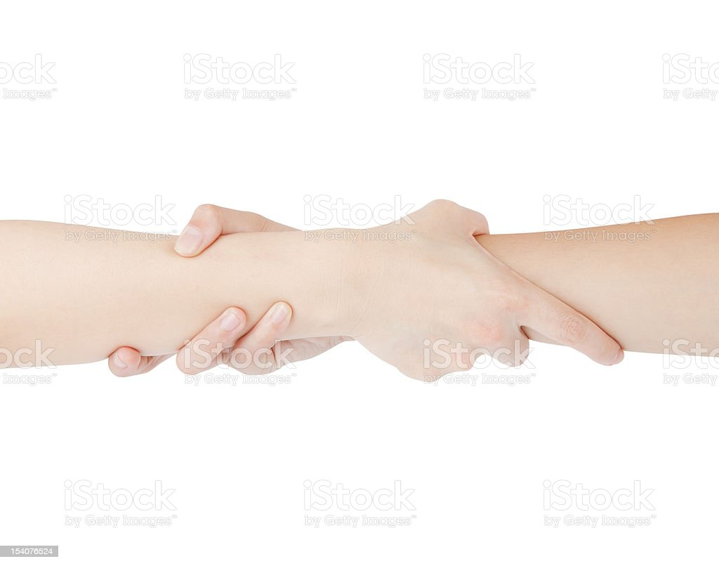Two woman hands isolated royalty-free stock photo