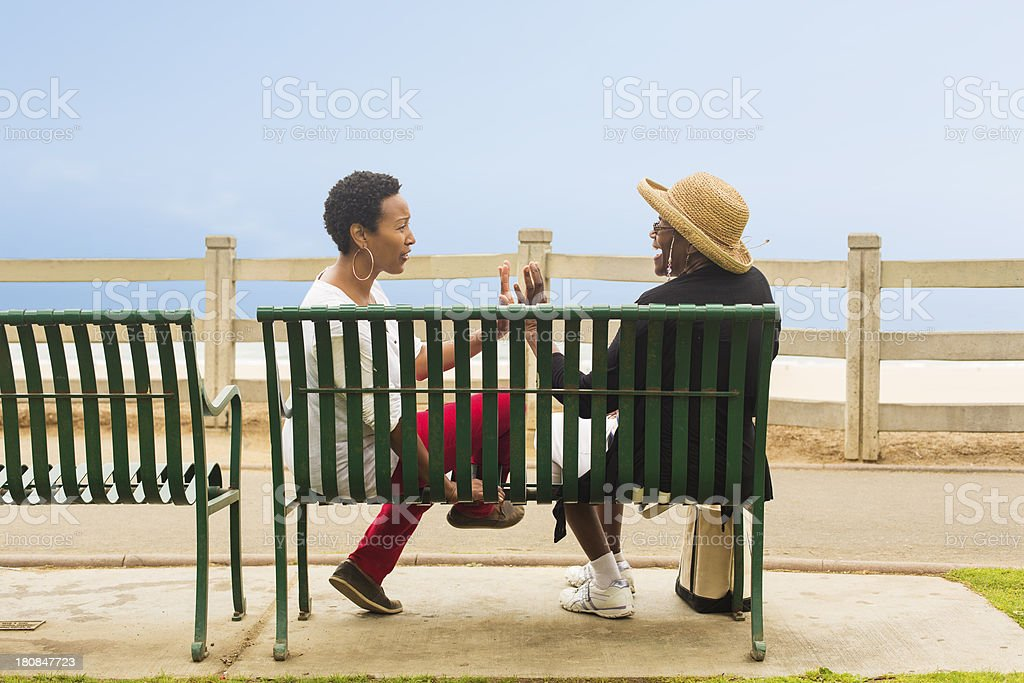 Two Women Chatting stock photo