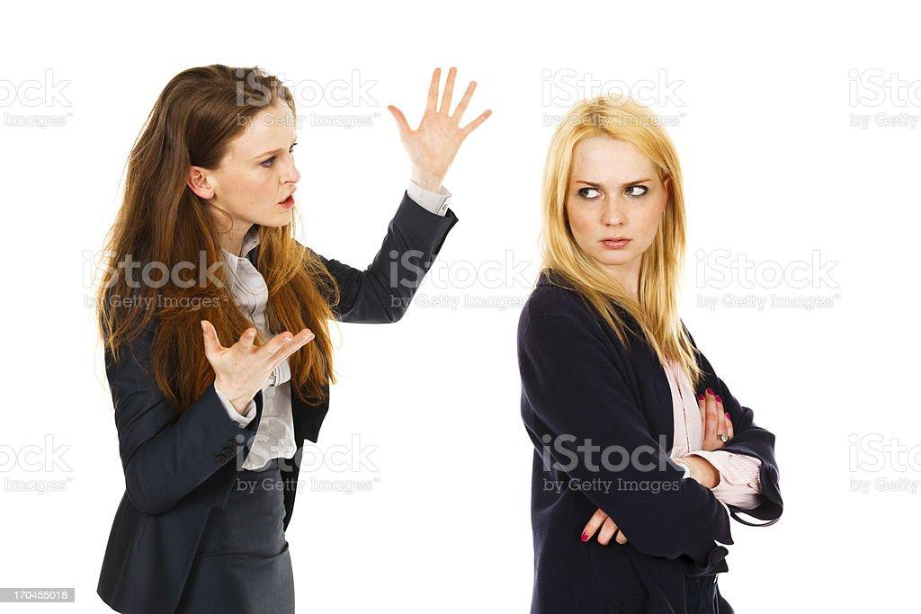 Two Women Disagreement stock photo