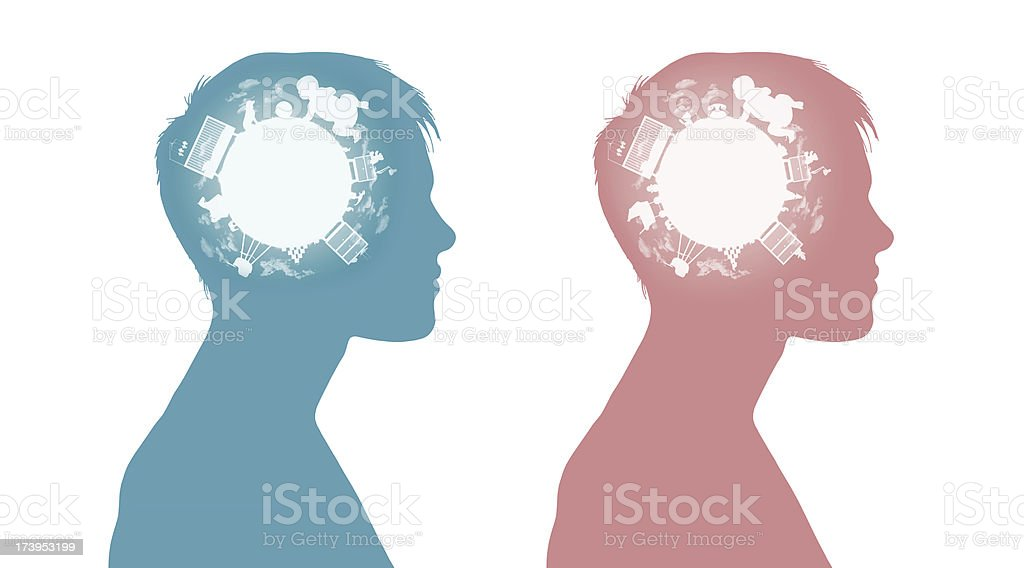 two women dreaming to have a baby royalty-free stock photo