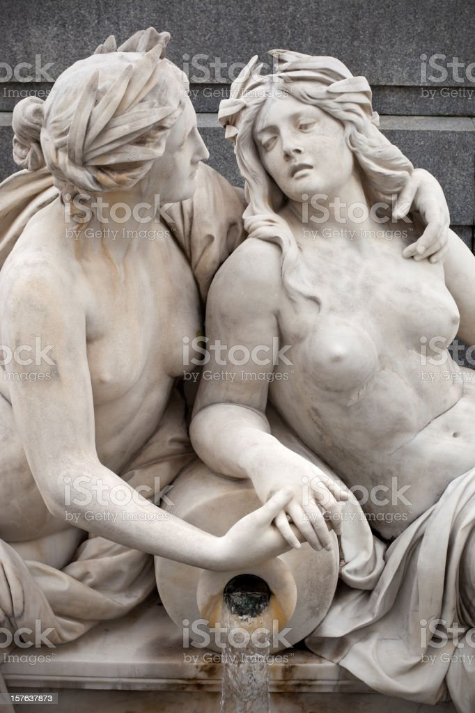 Two Women Embracing royalty-free stock photo