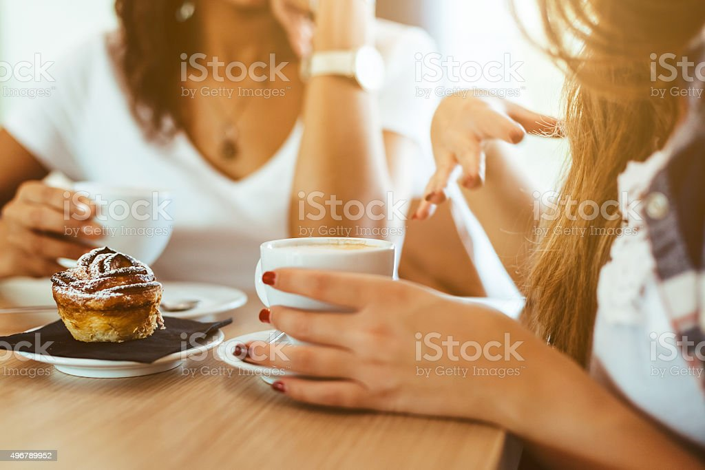 Two women friends at the bar stock photo