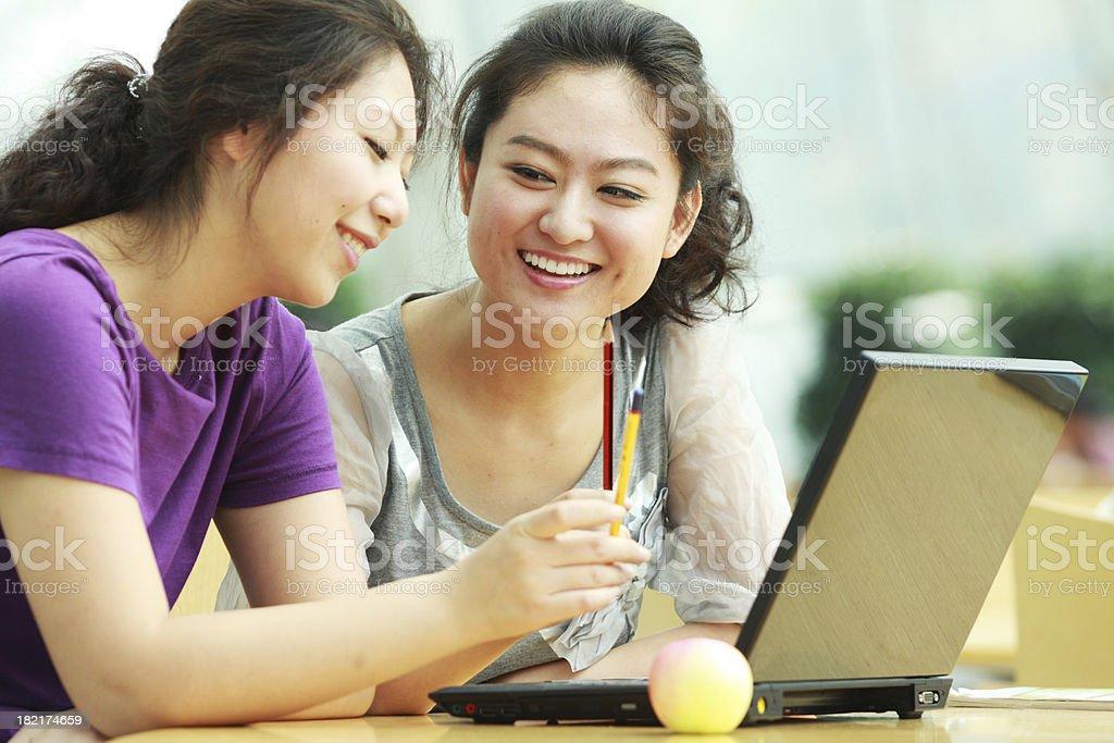 two women having nice conversation royalty-free stock photo