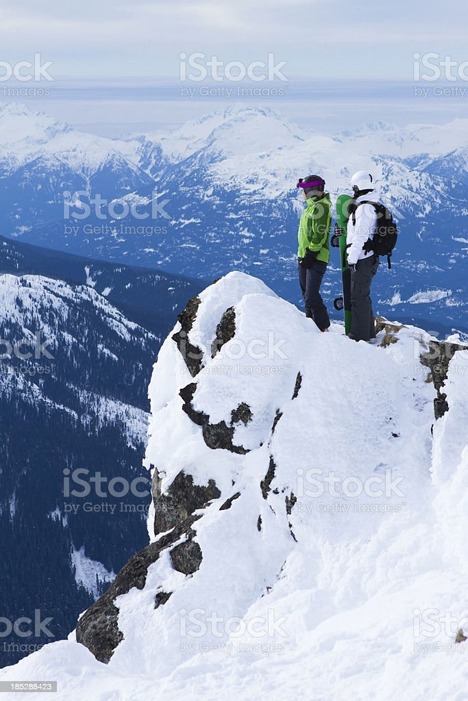 Two women looking at view. royalty-free stock photo
