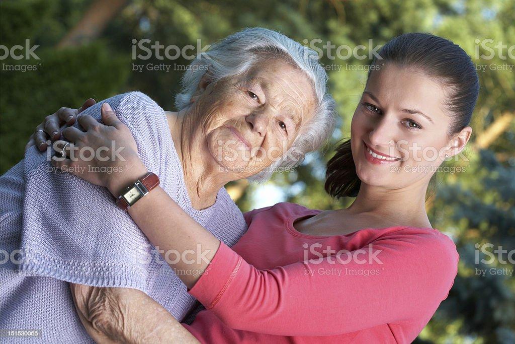 Two women royalty-free stock photo