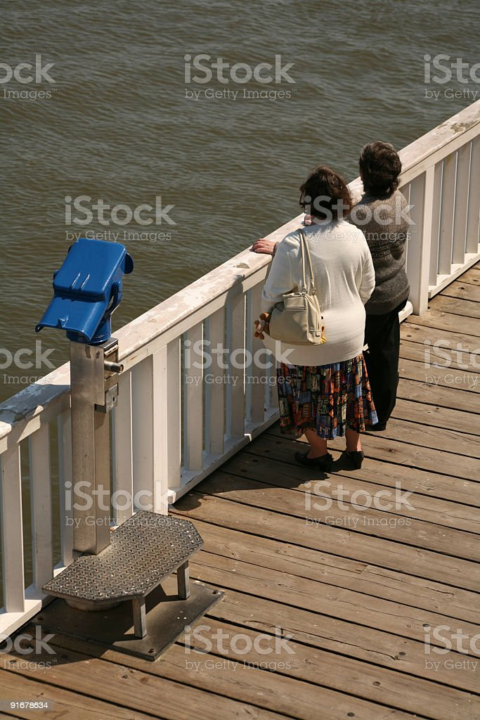 Two women stock photo