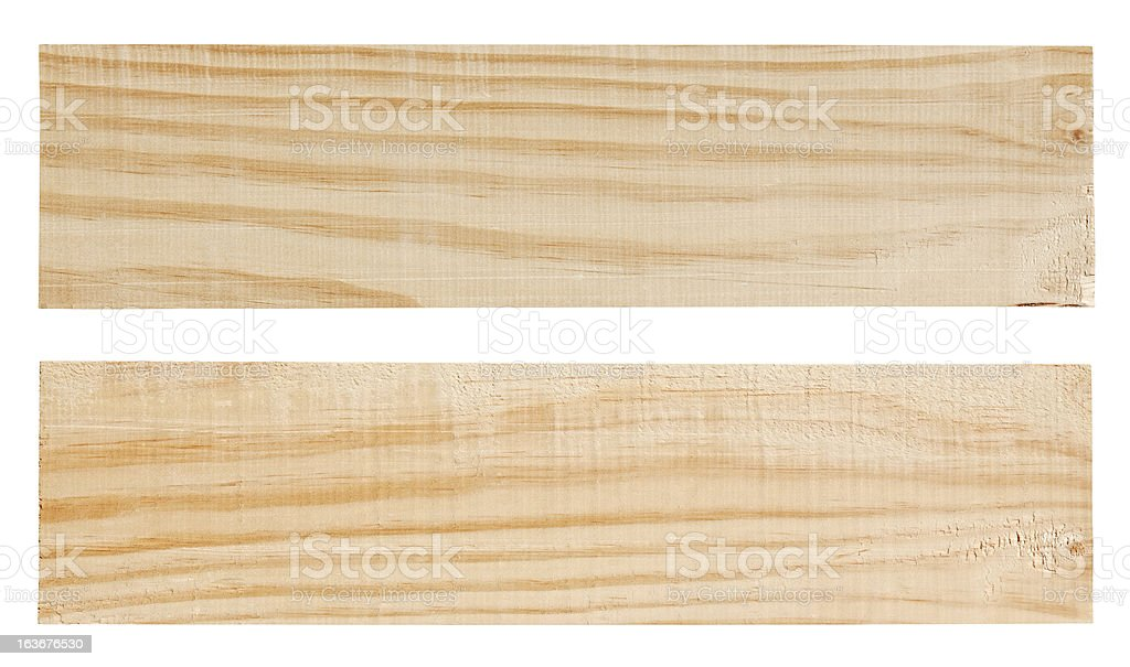 Two wood planks. stock photo