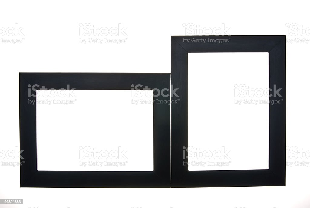 two wooden black frames royalty-free stock photo