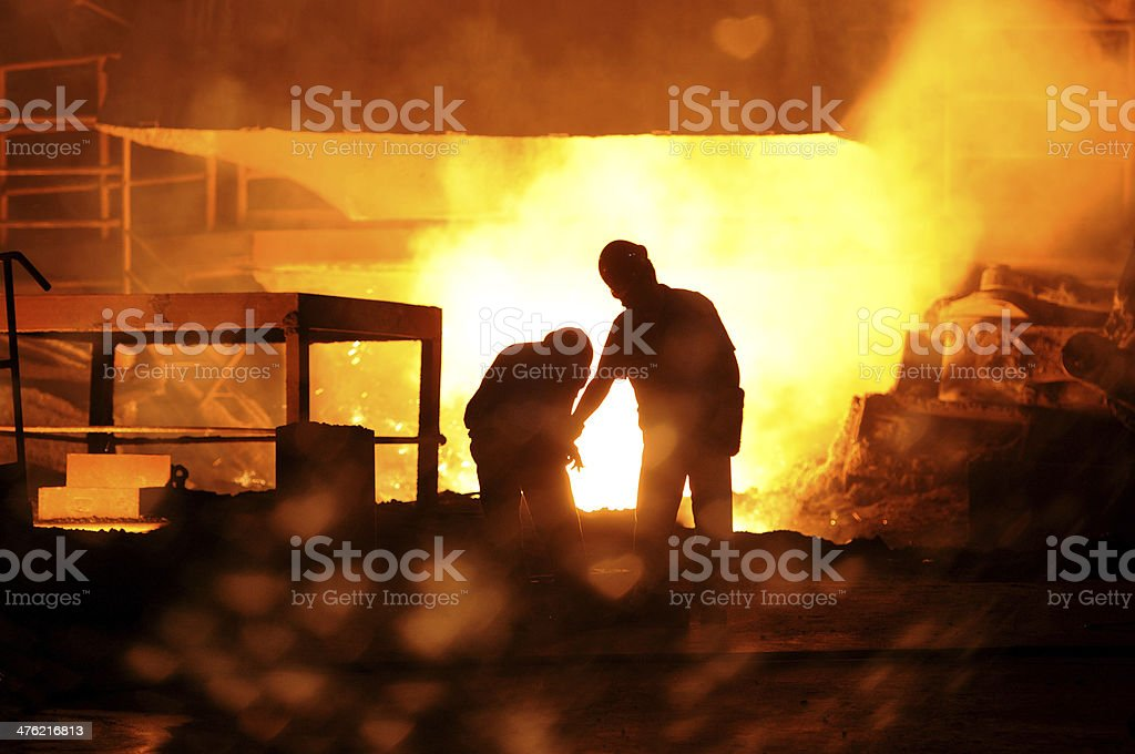 Two workers are working royalty-free stock photo