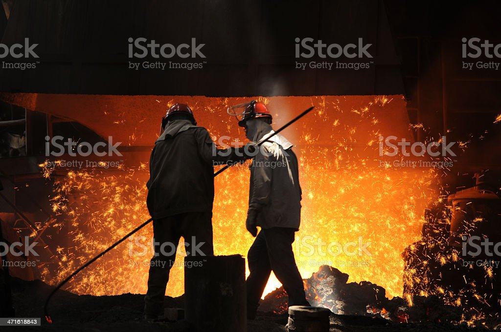 Two workers royalty-free stock photo
