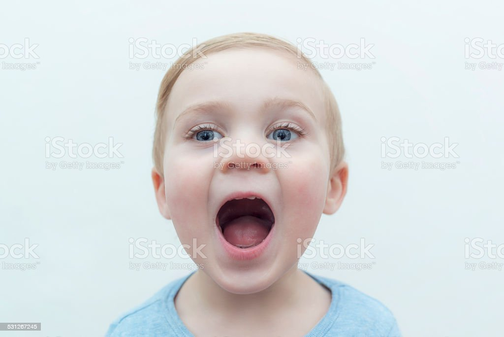 two year old caucasian boy stock photo