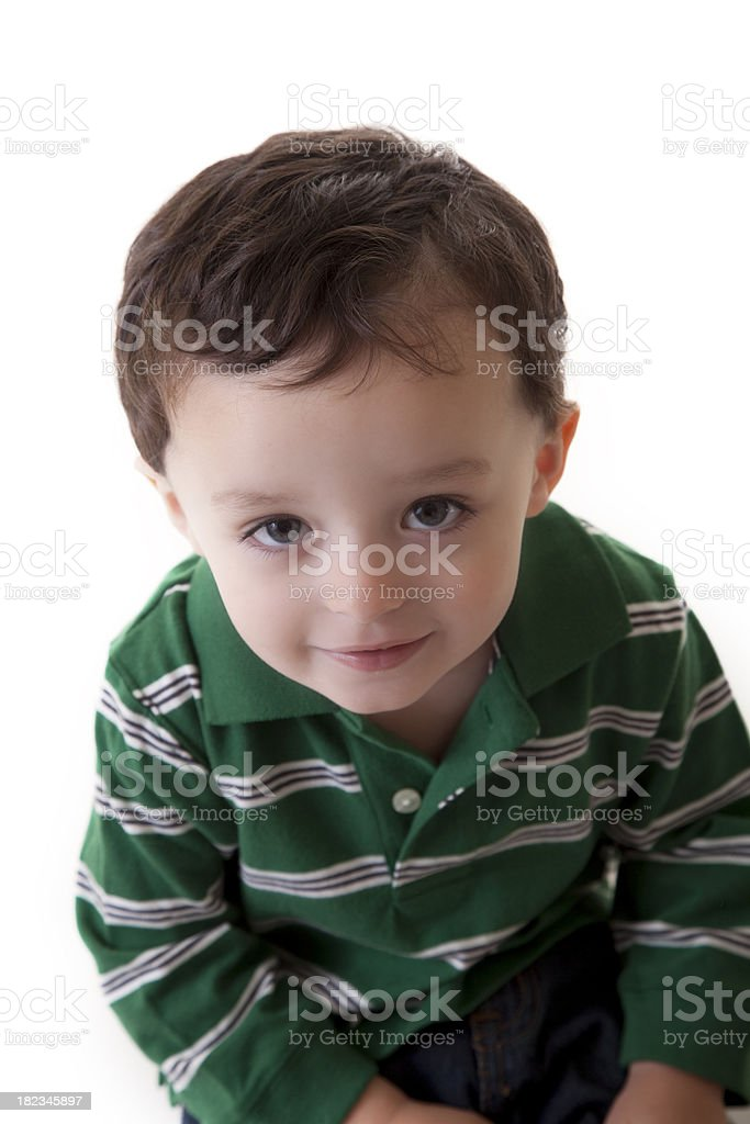 Two year old looking up (XXXL) stock photo