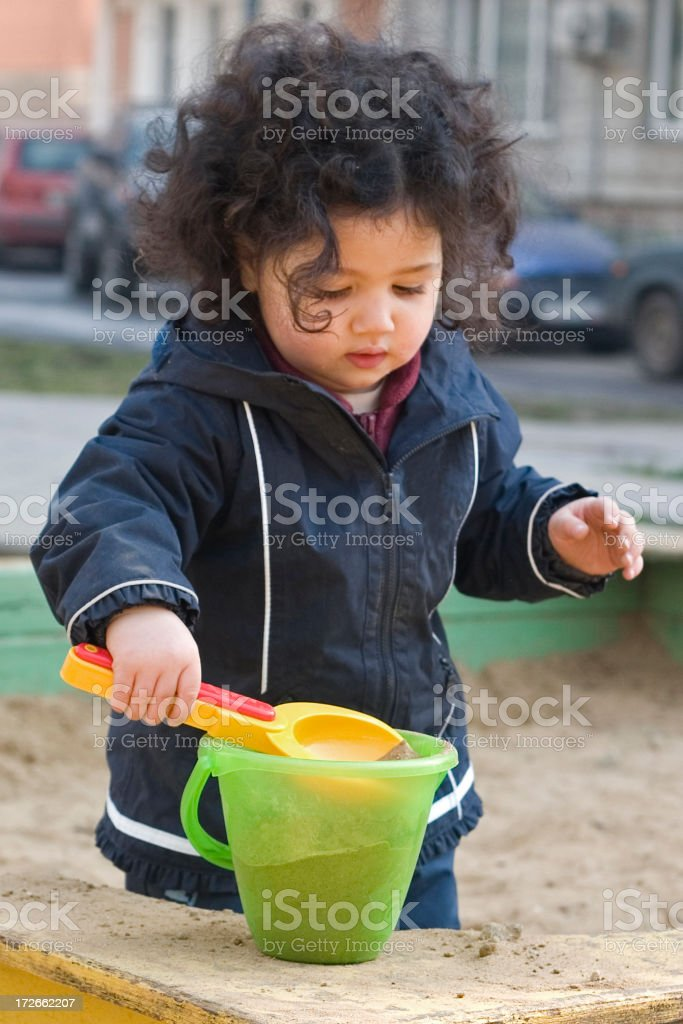 Two year old playing royalty-free stock photo