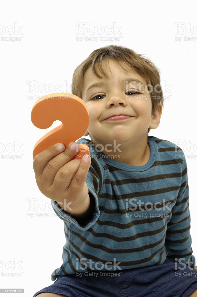 Two years old stock photo