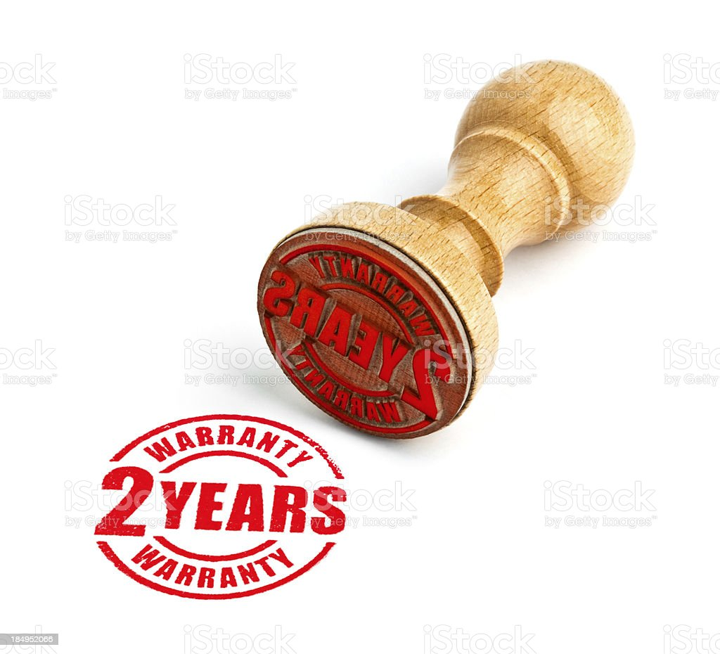 Two Years Warranty royalty-free stock photo