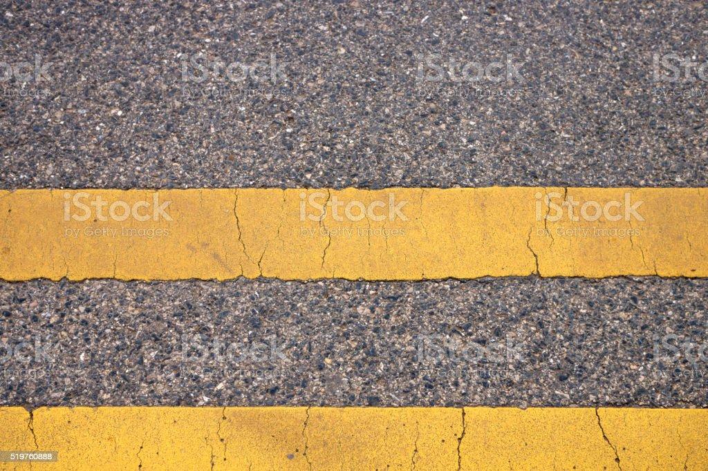 Two Yellow Line stock photo