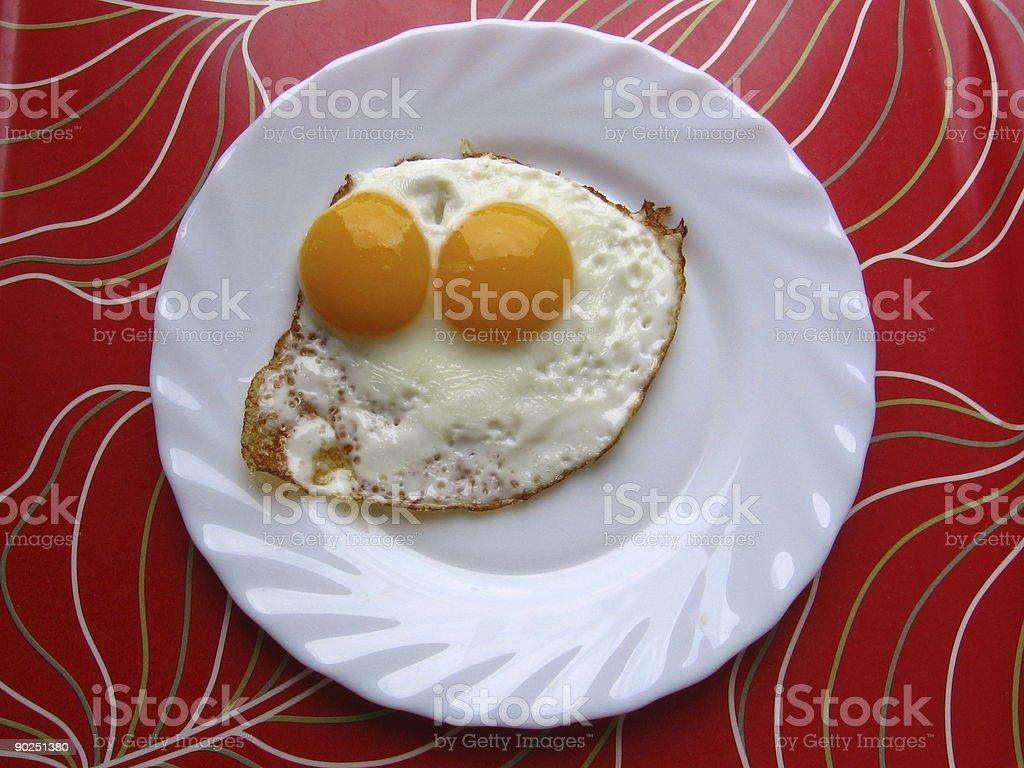 Two yolks egg stock photo