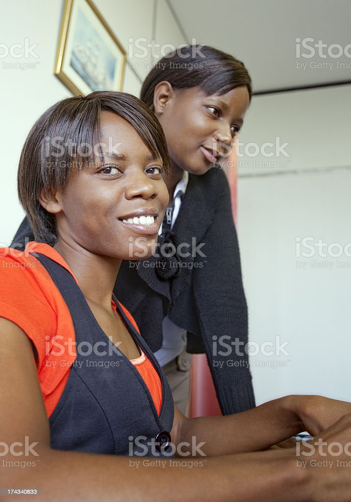 Two Young African Office Ladies royalty-free stock photo