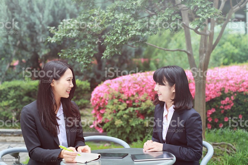 two young business women stock photo