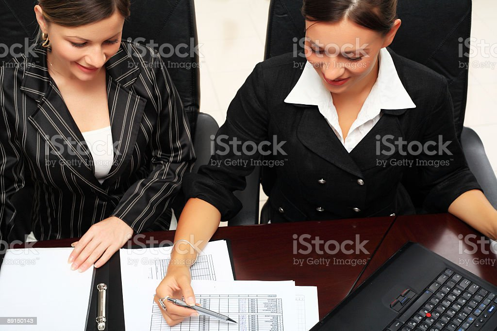 Two Young businesswoman working royalty-free stock photo