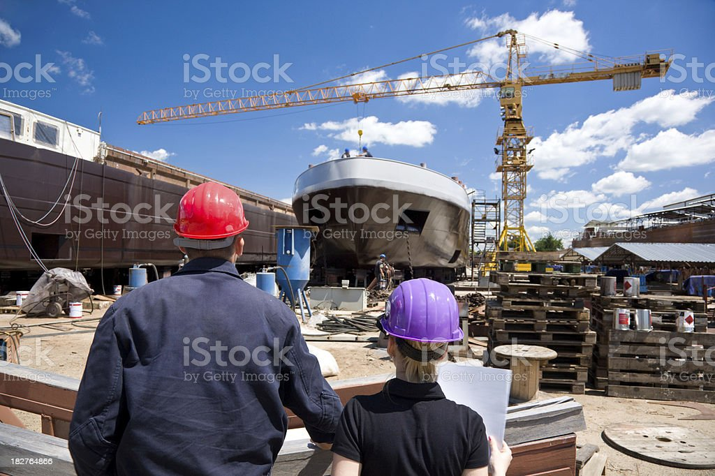 Two Young Engineer royalty-free stock photo