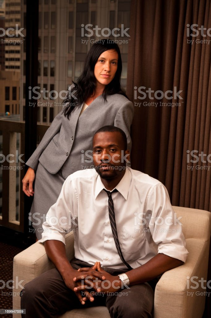 Two Young Executives royalty-free stock photo