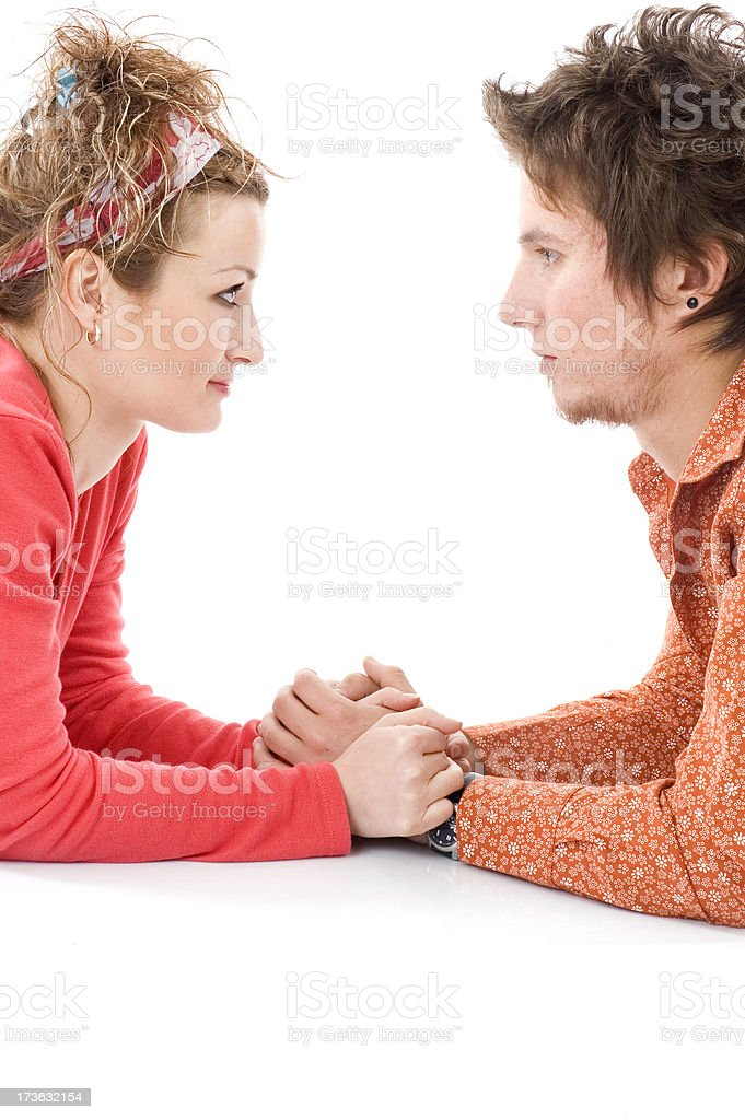 two young lover royalty-free stock photo