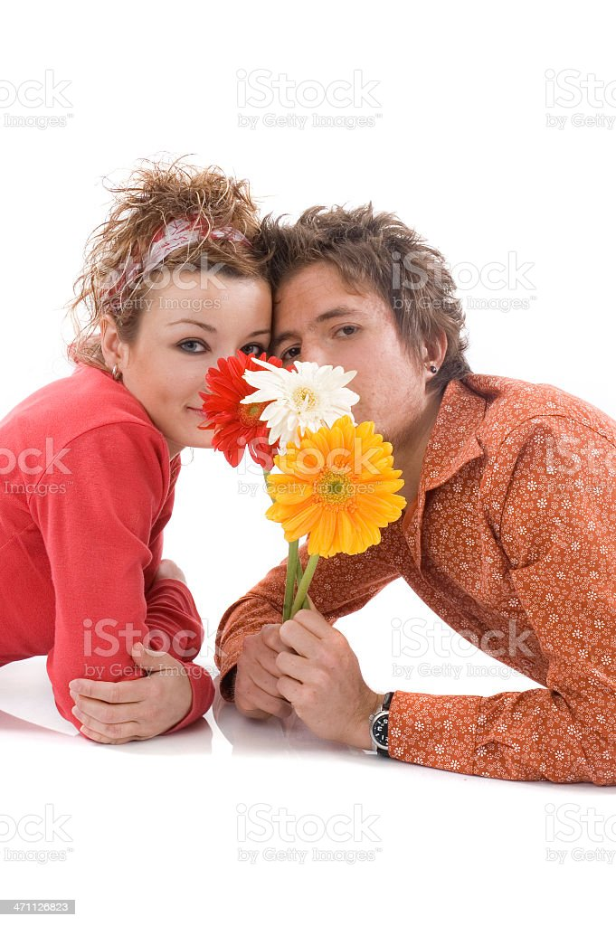 two young lover stock photo