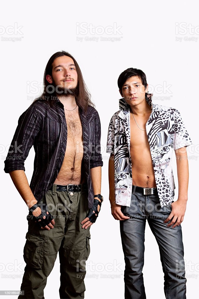 Two young men. stock photo