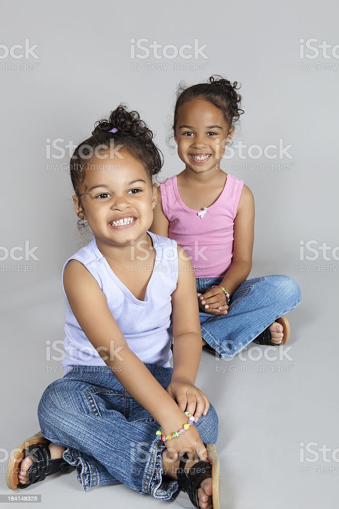 Two young sisters royalty-free stock photo