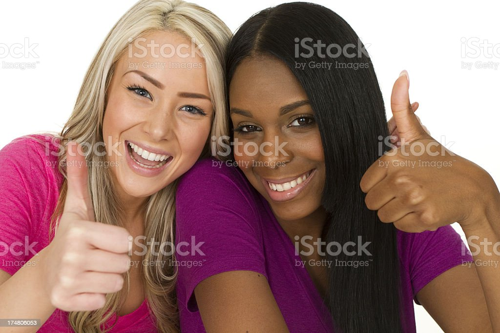 two young smiling women royalty-free stock photo
