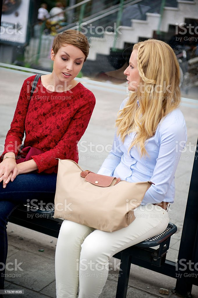 Two young women royalty-free stock photo