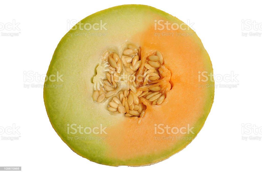 two-colored melon stock photo