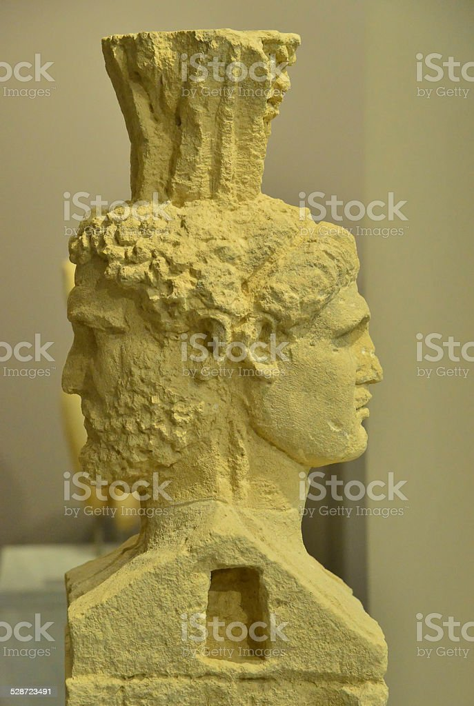 Two-faced   Janus stock photo