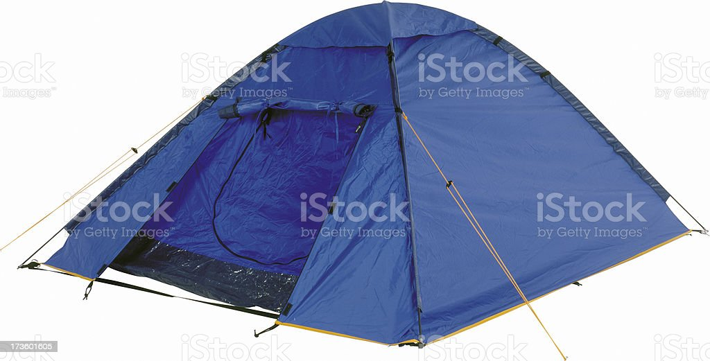 Two-person dome  for camping stock photo