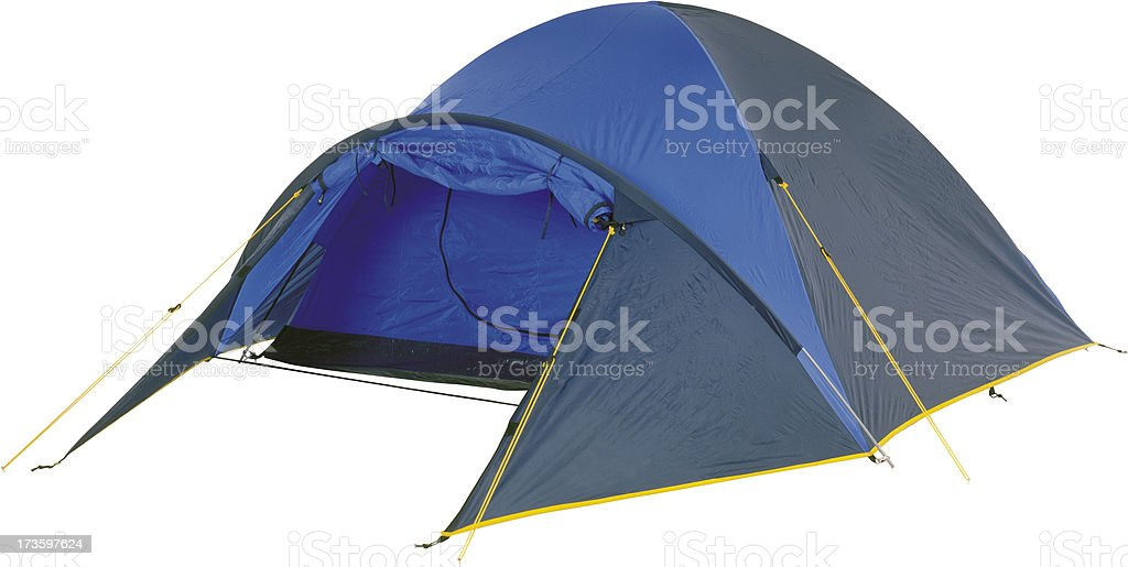 Two-person dome tent stock photo