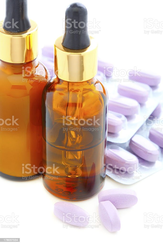 Two-phase anti-aging complex. stock photo